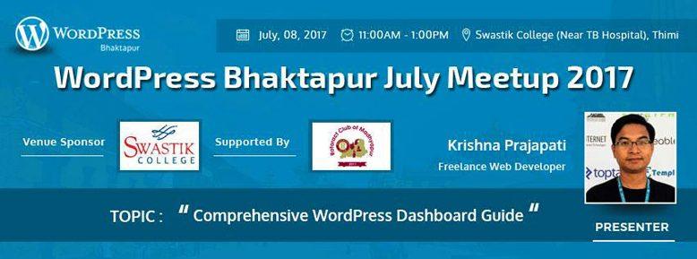 WordPress Bhaktapur July Meetup 2017