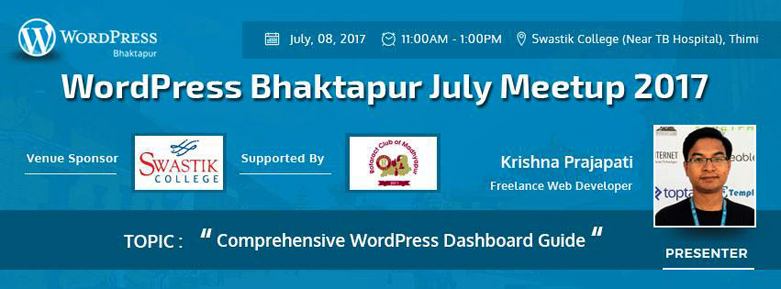 WordPress Bhaktapur July Meetup 2017