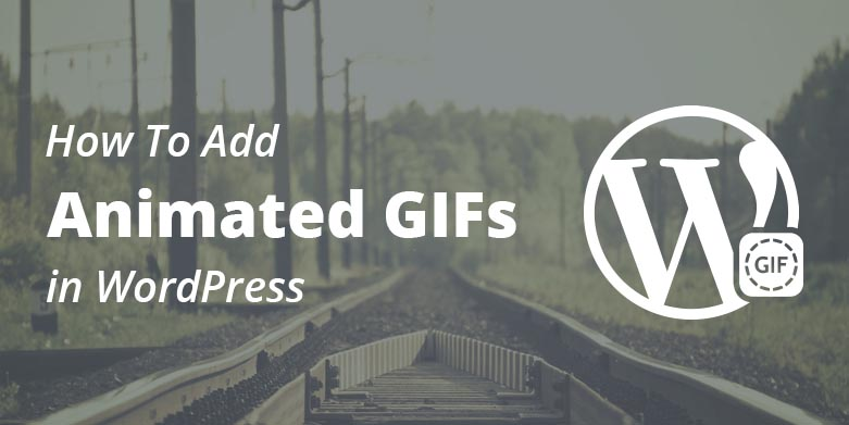 add animated gifs in wordpress