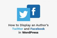 How to Display an Author's Twitter and Facebook in WordPress