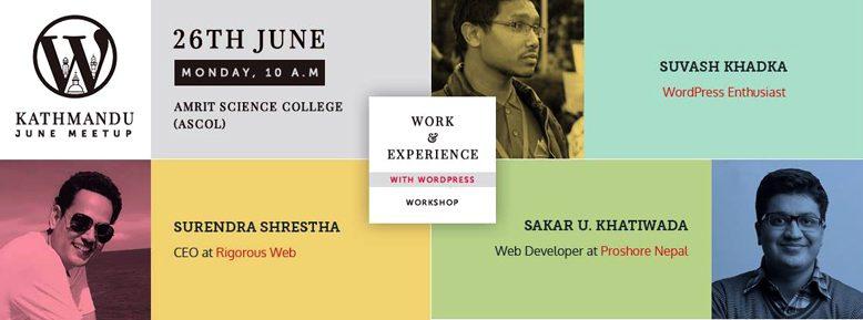 WordPress Kathmandu June Meetup 2017 banner