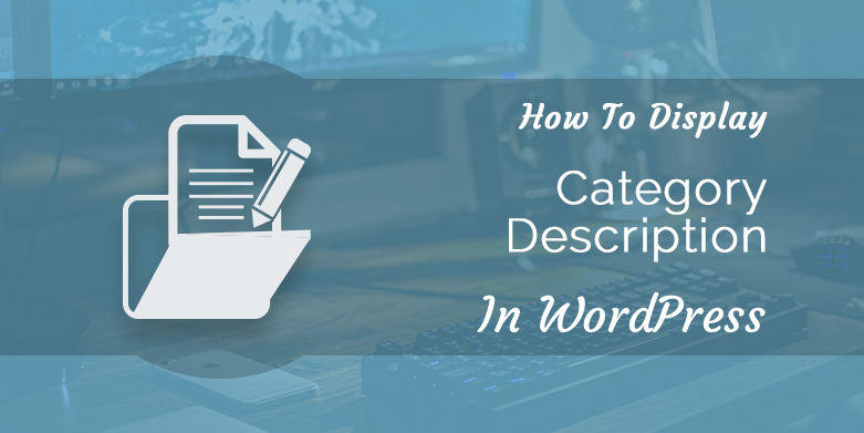 How ti Display Category Description in WordPress