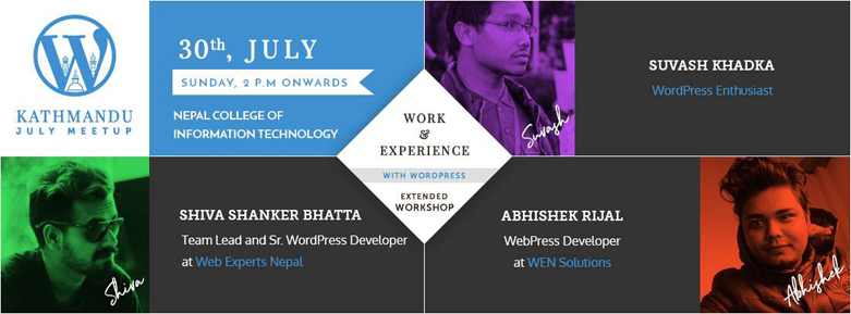 WordPress Kathmandu July Meetup 2017 Banner