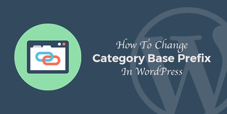 How to change Category base prefix in WordPress