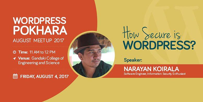 WordPress Pokhara August Meetup 2017. Image Source: Facebook