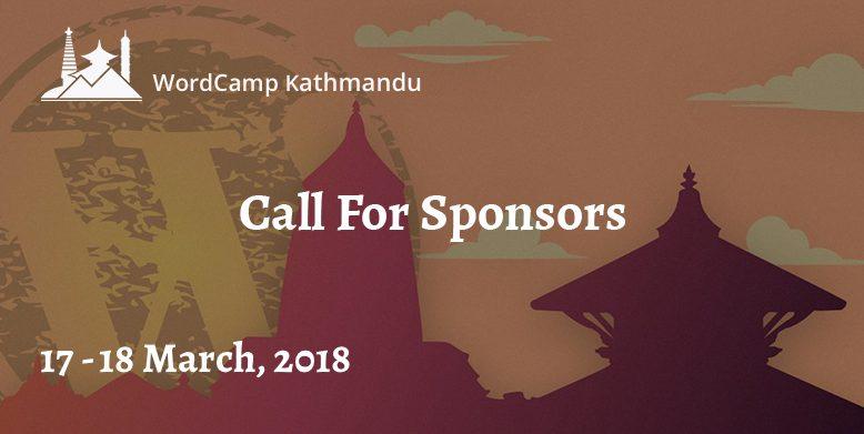 Call for sponsors. WordCamp Kathmandu 2018