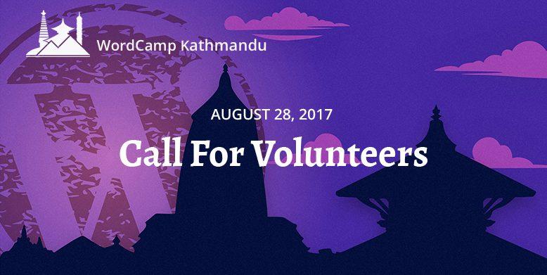 WordCamp Kathmandu 2018 Volunteers registration open