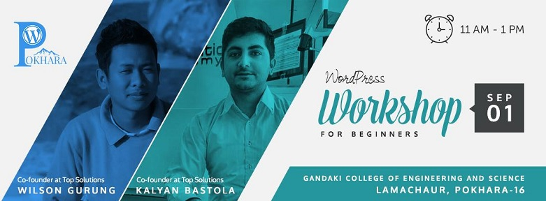 WordPress Pokhara September Meetup 2017 banner