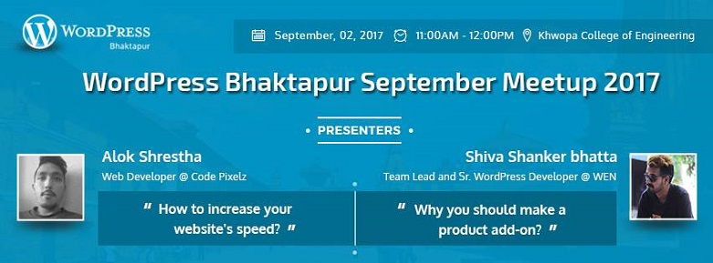 WordPress Bhaktapur September Meetup 2017 banner. Image Source: Facebook Event Page