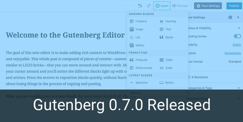 Gutenberg 0.7.0 released