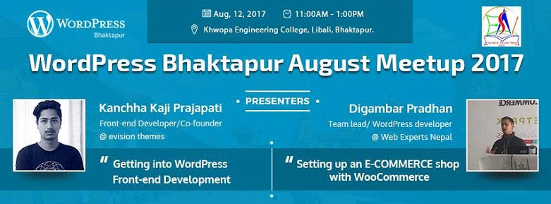 WordPress Bhaktapur August Meetup 2017 Has Been Announced!