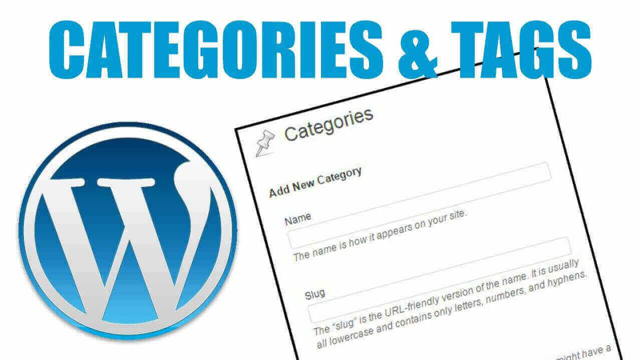 WordPress categories and tags. Image Source: Hitechwork
