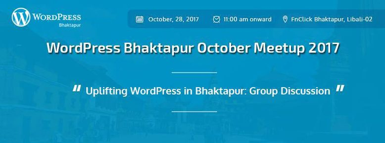 WordPress Bhaktapur October Meetup 2017