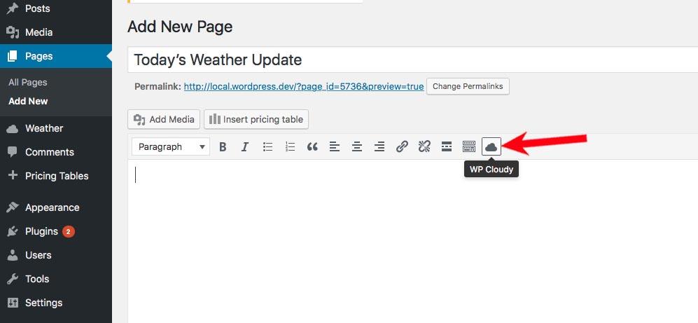 tiny WP Cloudy icon