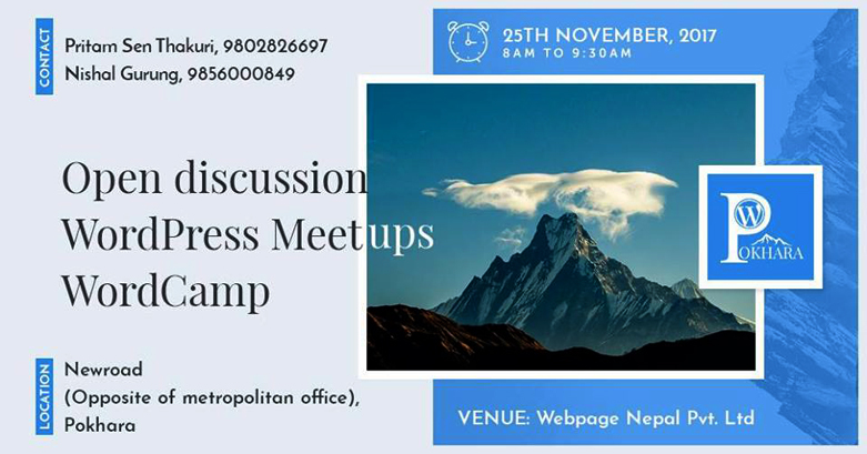 WordPress Pokhara November Meetup 2017 Announced!
