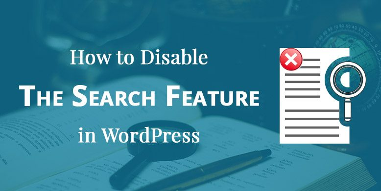 How to Disable Search Feature in WordPress