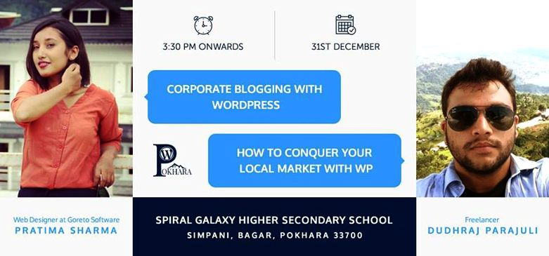 WordPress Pokhara December Meetup 2017 Announced. Image Source: Facebook
