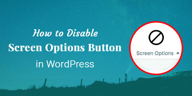 How to Disable Screen Options Button in WordPress