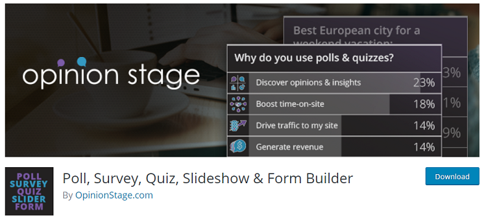Poll, Survey, Quiz, Slideshow & Form Builder