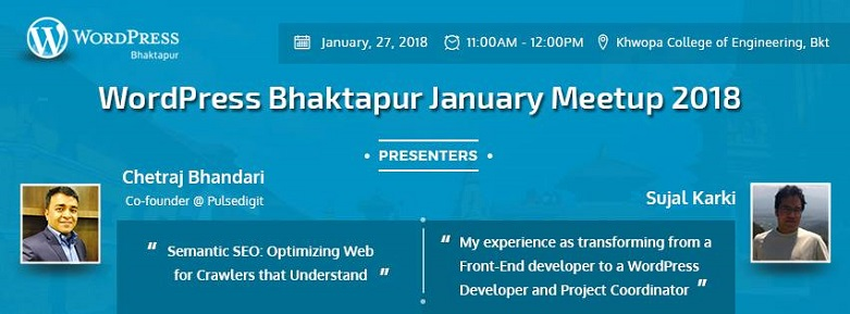 WordPress Bhaktapur January Meetup 2018 Announced!