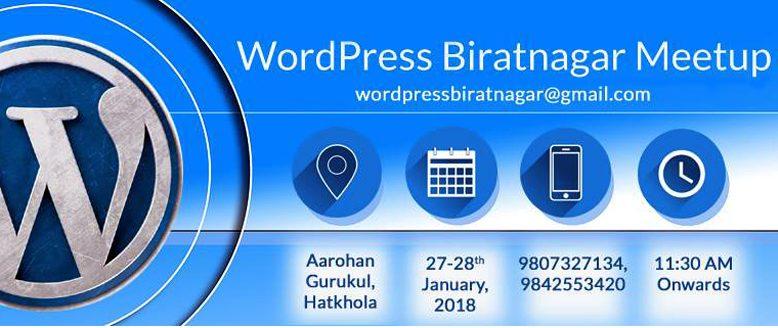 WordPress Biratnagar Meetup 2018
