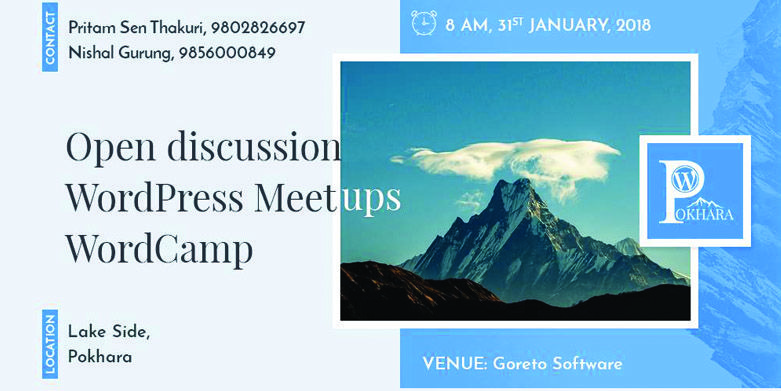WordPress Pokhara January Meetup 2018 To Be an Open Discussion