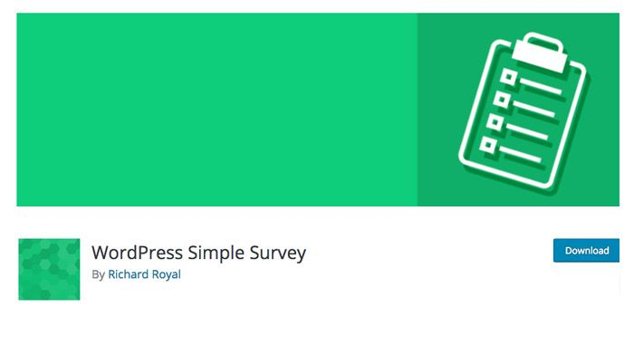 WordPress-Simple-Survey