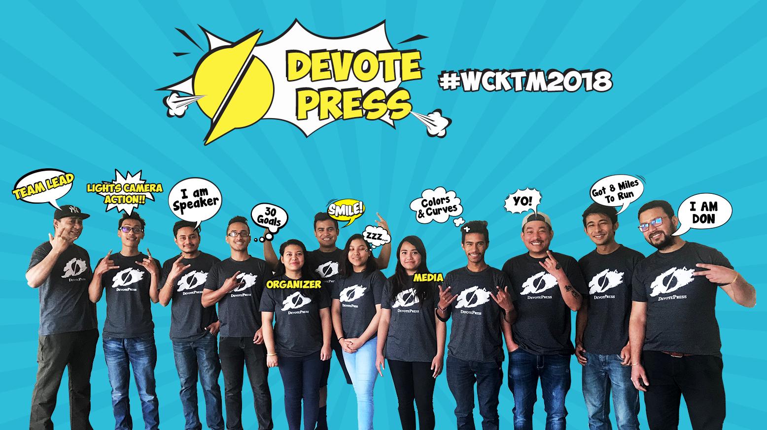 DevotePress at WordCamp Kathmandu 2018