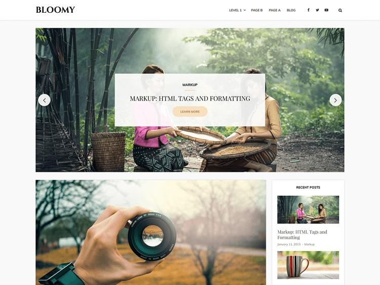 Bloomy. Image Source: WordPress.org