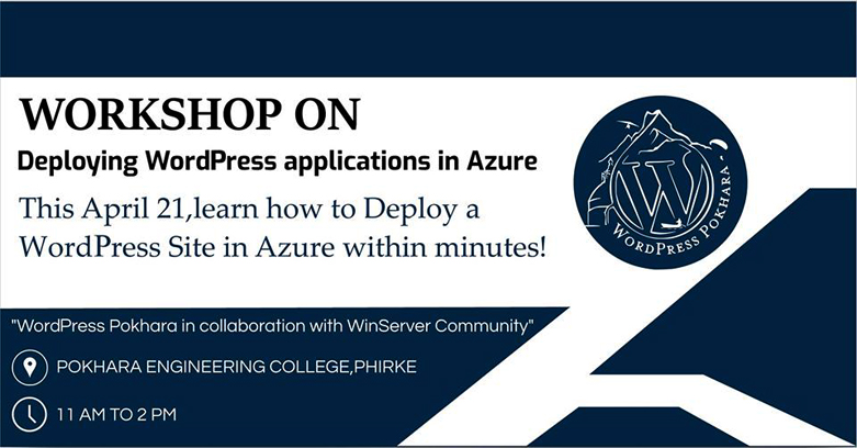 Workshop on Deploying WordPress Applications in Azure | WordPress Pokhara