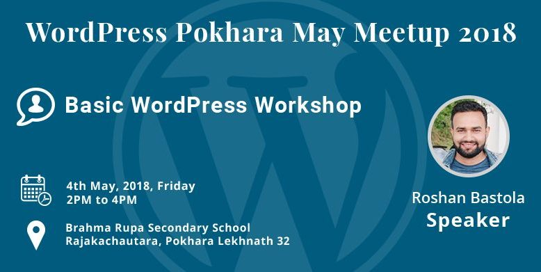 WordPress Pokhara May Meetup 2018