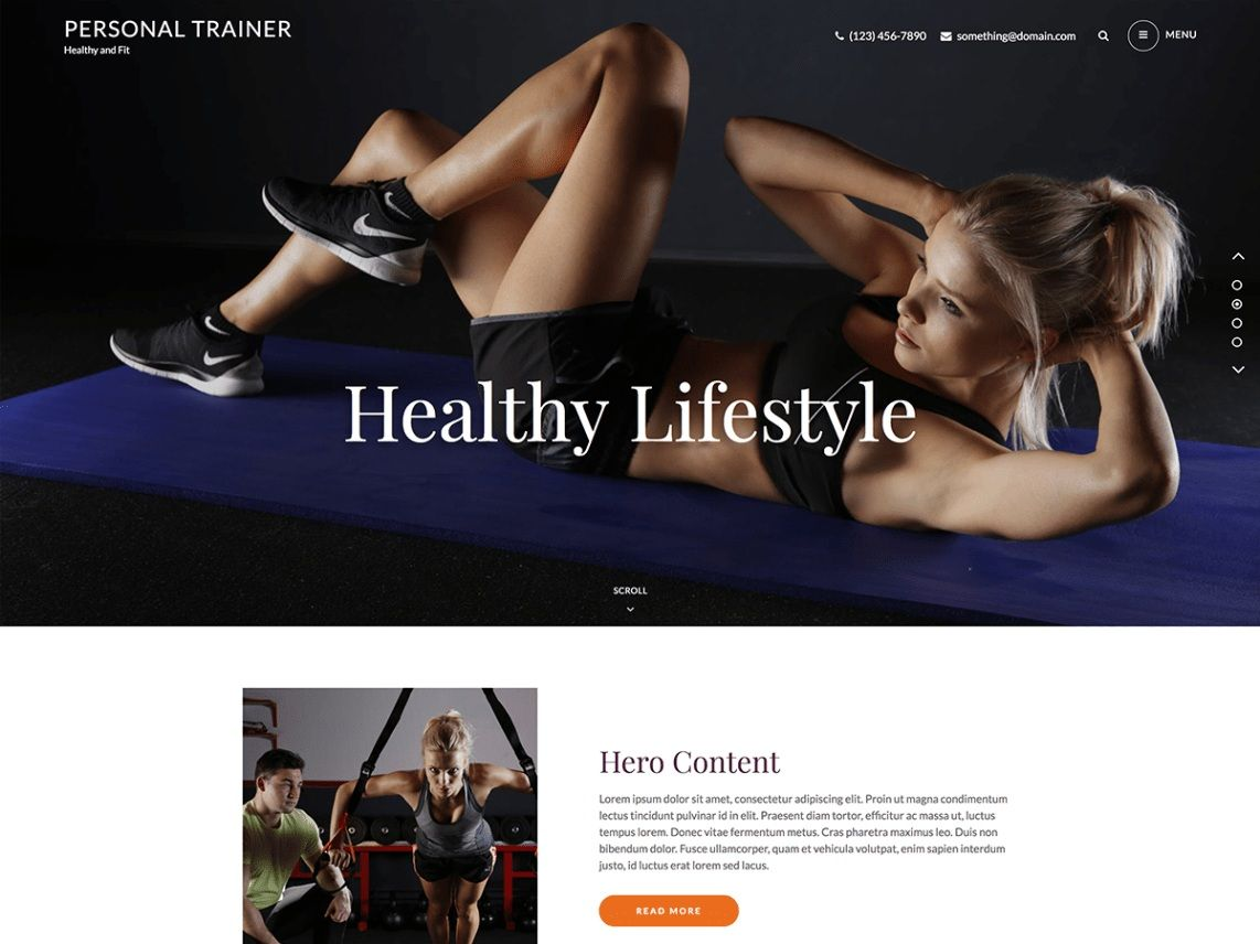 Personal Trainer. Image Source: Catch Themes