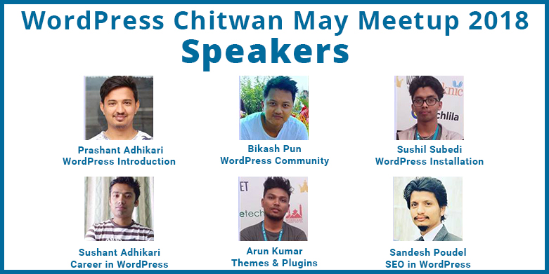 Speakers for WordPress May Meetup 2018