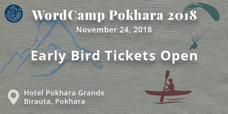 WordCamp Pokhara 2018 tickets