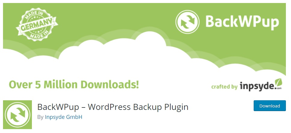 5 Best Free WordPress Backup Plugins | Secure your Sites