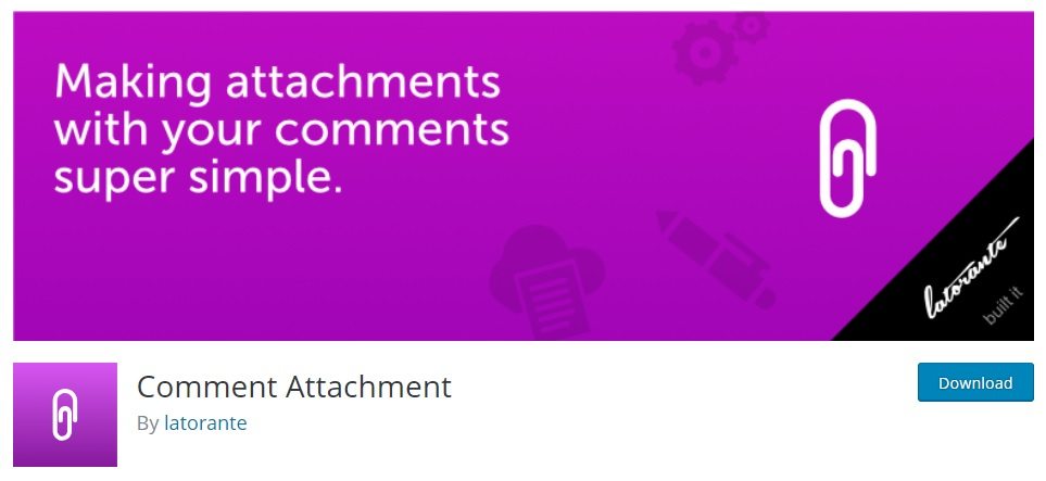 Comment Attachment Plugin