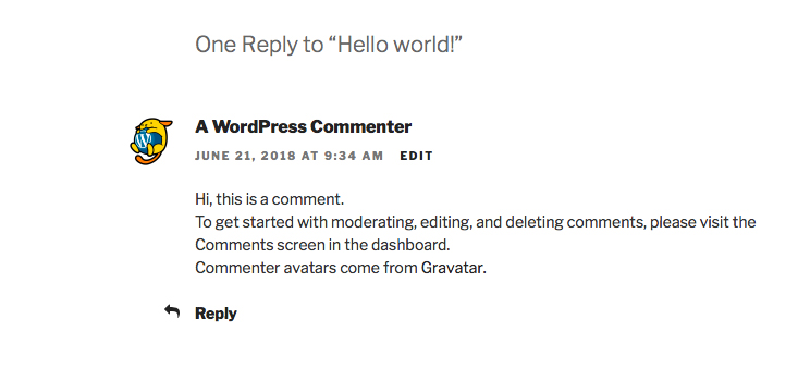 Sample Comment