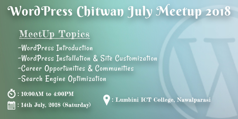 WordPress Chitwan July Meetup 2018