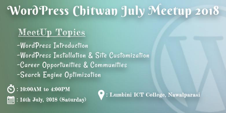 WordPress Chitwan July Meetup 2018
