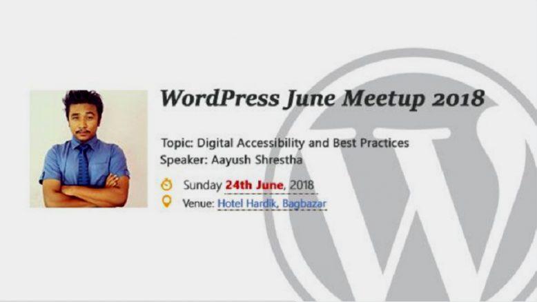 WordPress Kathmandu June Meetup 2018. Image Source: Meetup