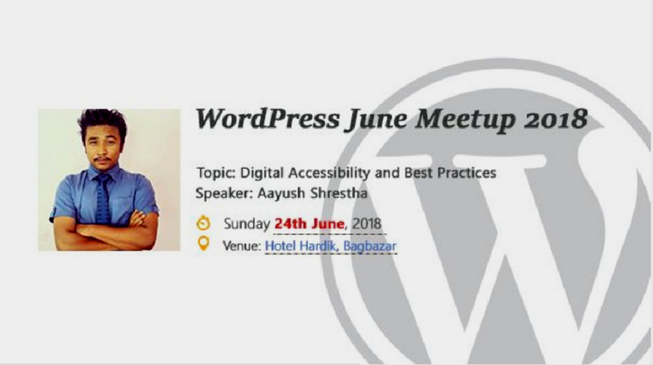WordPress Kathmandu June Meetup 2018. Image Source: Meetup