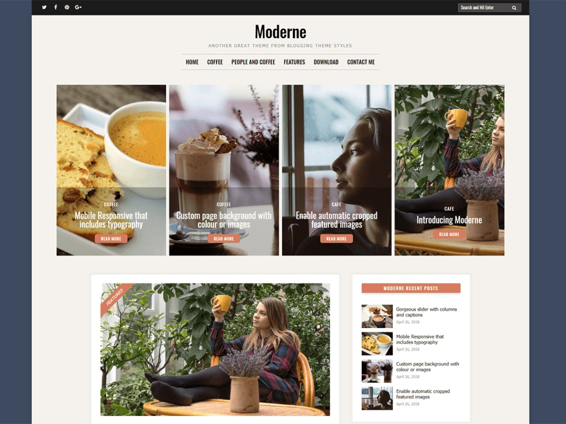 Moderne. Image Source: WordPress.org
