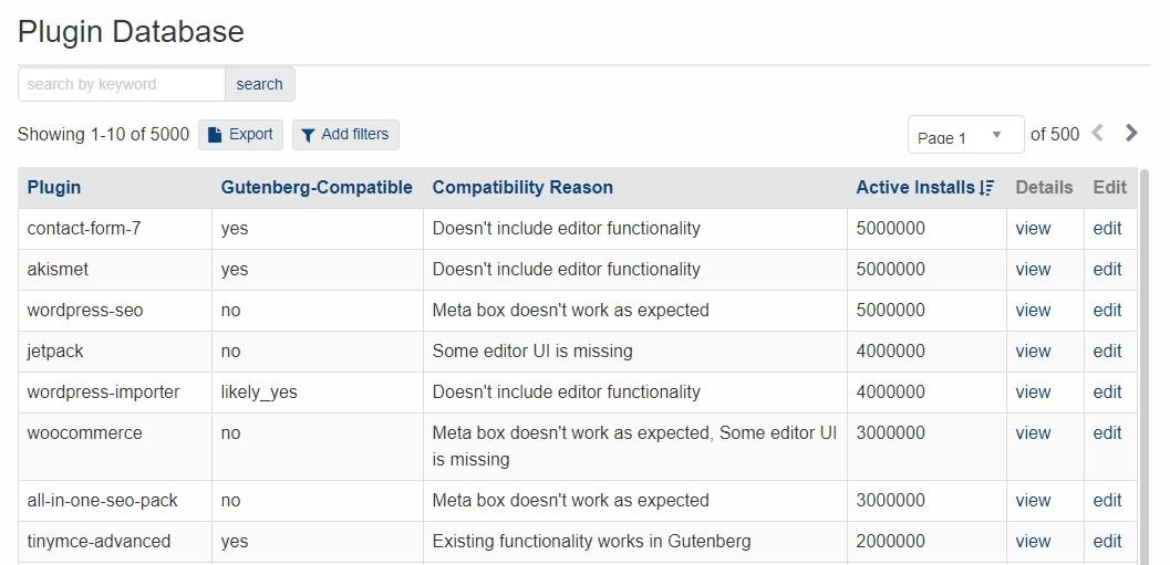 Plugin Database