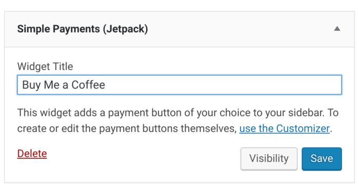 Simple Payment Widget