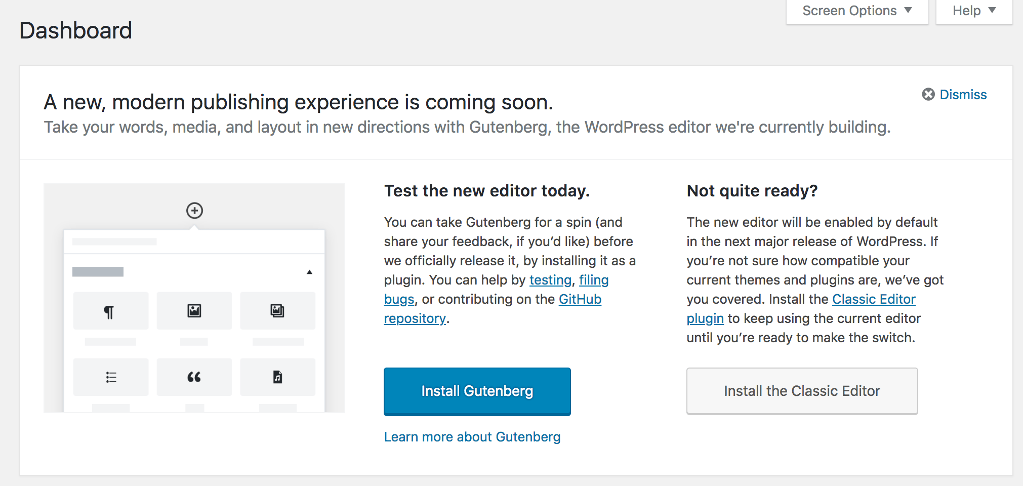 Try Gutenberg in WordPress 4.9.8 Beta 2
