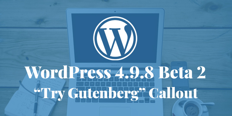 WordPress 4.9.8 Beta 2 Released