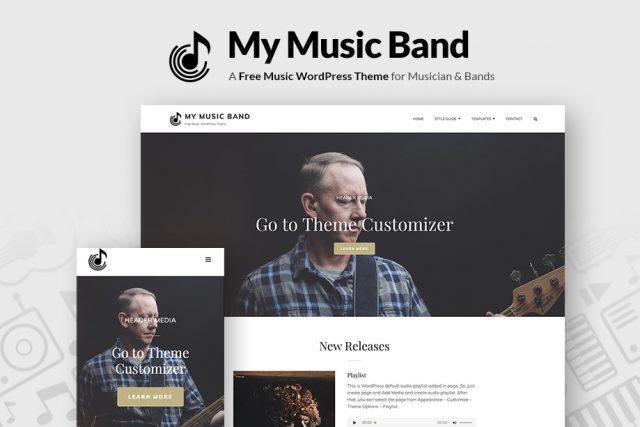 My Music Band – A Free Music WordPress Theme for Musician and Bands