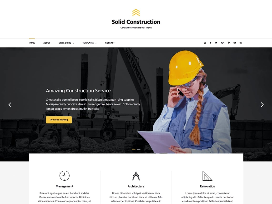 Solid Construction. Image Source: Catch Themes