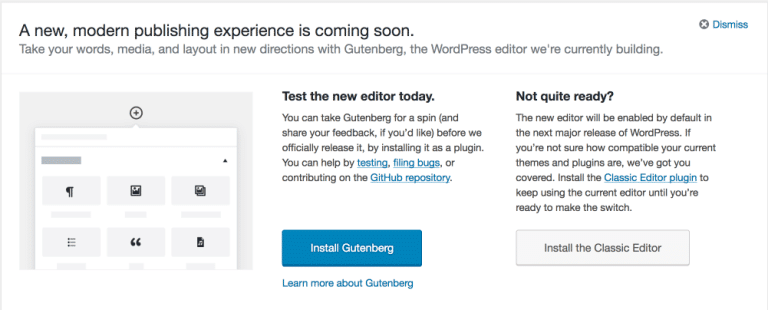 Try Gutenberg Callout