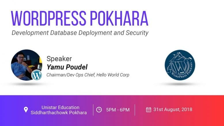 WordPress Pokhara August Meetup 2018